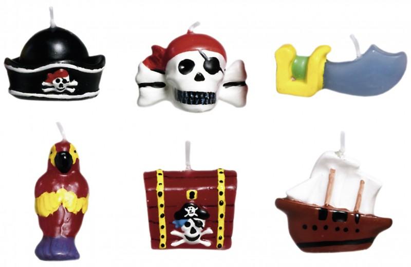 6 Piraten Kuchen Kerzen Kinderparty 1 Geburtstag Piratenparty