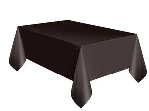 Plastik Tischdecke schwarz – Bild 1