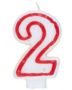 Zwei Geburtstags Kuchen Kerze Zahlenkerze