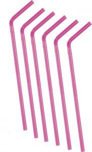 50 Trinkhalme Neon Pink