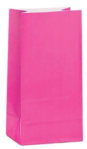 12 Papiertüten Pink