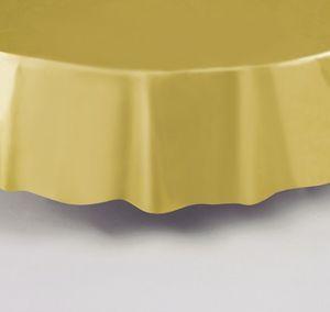 Plastik Tischdecke Rund Gold