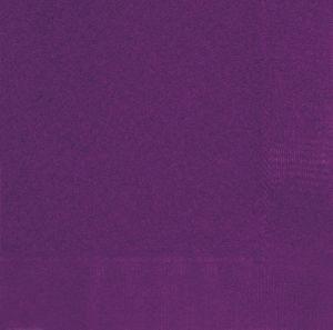 20 Servietten Dunkles Violett