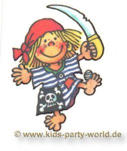 Mini Tattoo Piratenmädchen