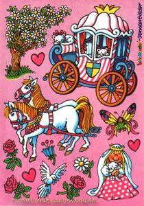 Fensterbild Prinzessin auf Kutschenfahrt