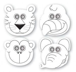 12 Dschungel Tiere Masken
