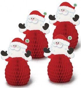 4 kleine Weihnachtsmann Tischaufsteller – Bild 1
