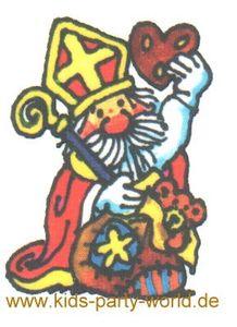 Weihnachts Mini Tattoo Nikolaus