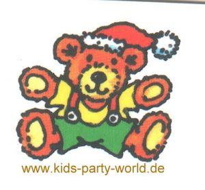 Weihnachts Teddy Mini Tattoo