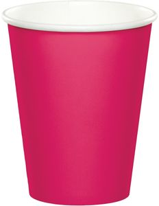 24 Papp Becher in Pink Magenta