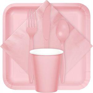 20 Plastik Schalen Pastell Rosa – Bild 2