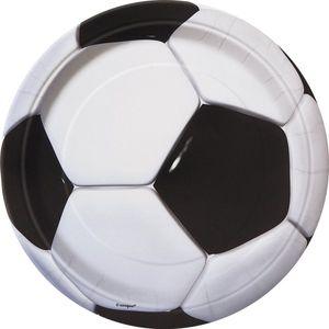 8 Fußball Pappteller