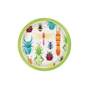 8 kleine Papp Teller Insekten Forscher