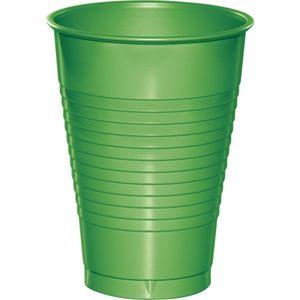20 große Plastik Becher Limonen Grün alte Farbmischung 350 ml