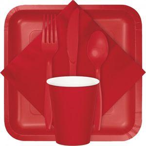 50 Servietten Klassisch Rot – Bild 3