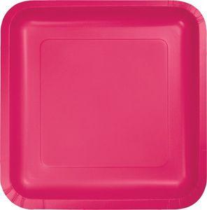 18 quadratische Teller Magenta Pink