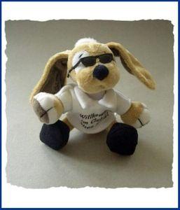 Stoppel Schlüsselanhänger mit Sonnenbrille