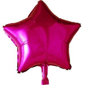 Folienballon Stern in Pink Magenta