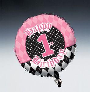 Erster Geburtstag Angel Folien Ballon