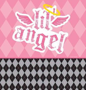 Erster Geburtstag Angel Tischdecke