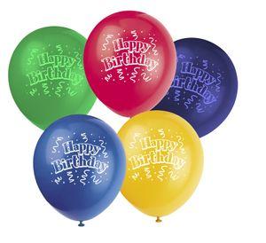 8 bunte Geburtstags Luftballons