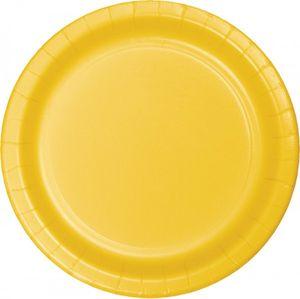24 Pappteller Sonnen Gelb