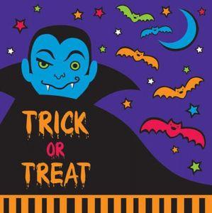 16 Halloween Servietten Vampir + Feldermaus