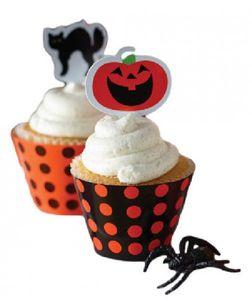 12 Muffins Halloween Wraps und Picks