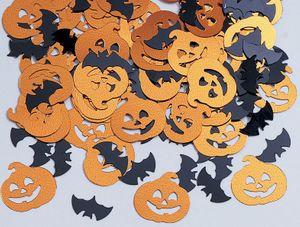 Halloween Konfetti Fledermaus und Kürbis Mix