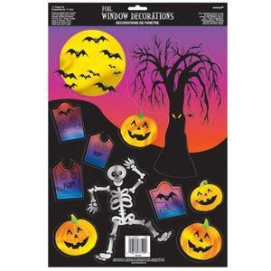 Halloween Fensterbild gruselige Gesellen