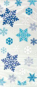20 Zellophantüten Schneeflocken