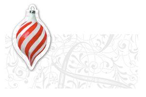 12 Tischkarten Weiße Weihnacht