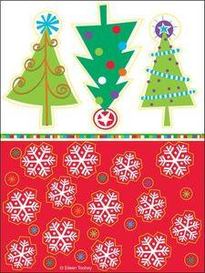 4 Bogen Tannenbaum Sticker
