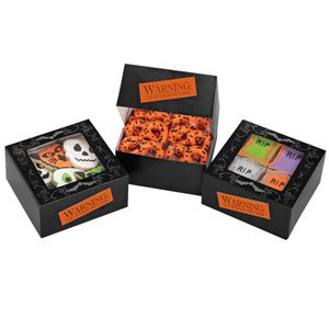3 Halloween Muffins oder Gebäck Schachteln mit Sichtfenster
