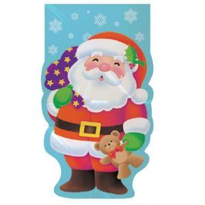 20 Zellophantütchen Weihnachtsmann