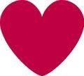 10 kleine Deko Pappschilder Herzen