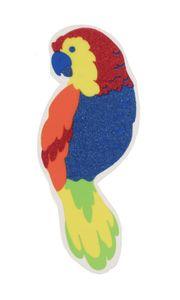 Glitzer Schild Papagei
