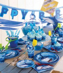 16 Haifisch Party Servietten – Bild 3