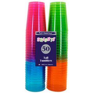 50 Neon bunte Plastik Becher  – Bild 2