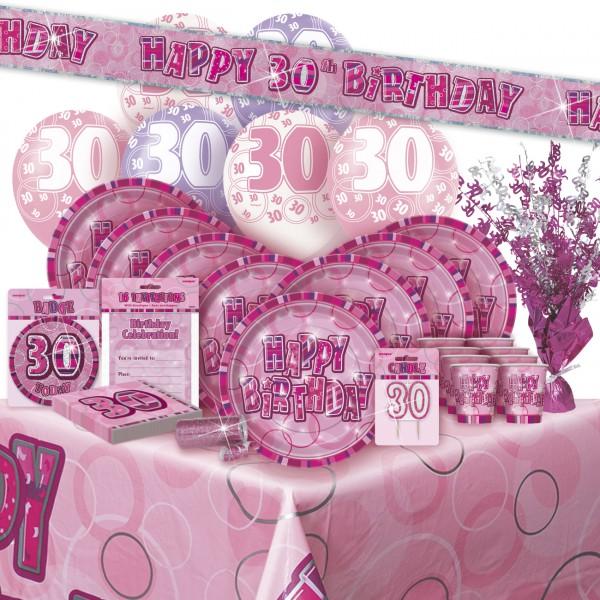 16 servietten zum 30 geburtstag in pink. Black Bedroom Furniture Sets. Home Design Ideas