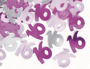 16. Geburtstag Deko Konfetti Pink