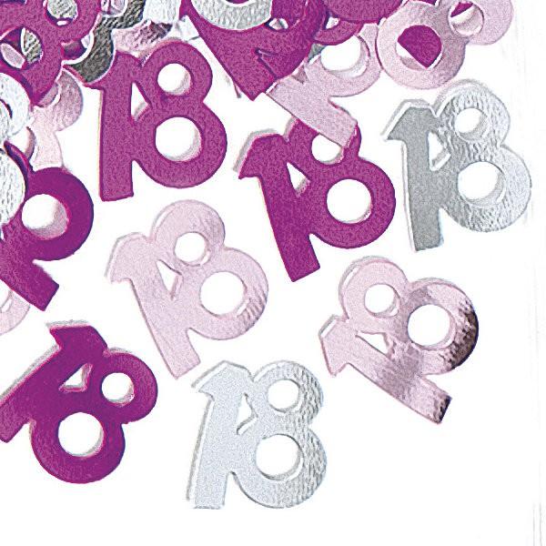 18 Geburtstag Deko Konfetti Pink