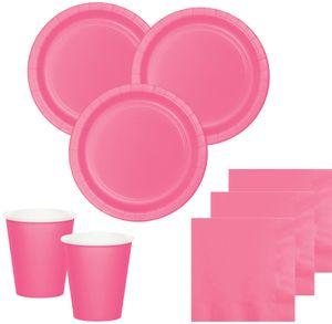 8 Papp Teller Bonbon Rosa