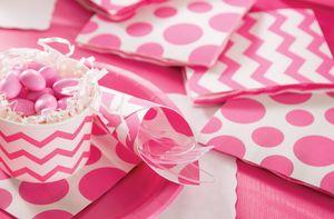8 Papp Teller Bonbon Rosa – Bild 3
