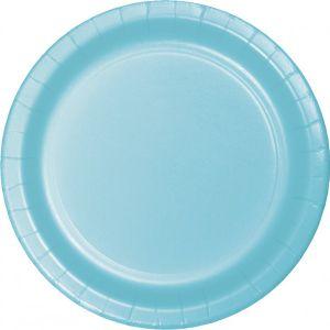 8 Pappteller Pastell Blau – Bild 1