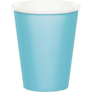 8 Papp Becher Pastell Blau – Bild 1