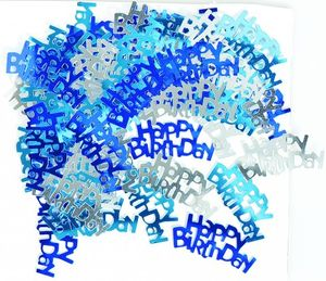 Happy Birthday Konfetti Blau