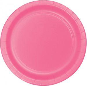 8 kleine Papp Teller Bonbon Rosa – Bild 1