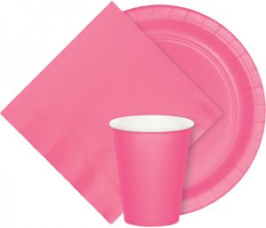 8 kleine Papp Teller Bonbon Rosa – Bild 2
