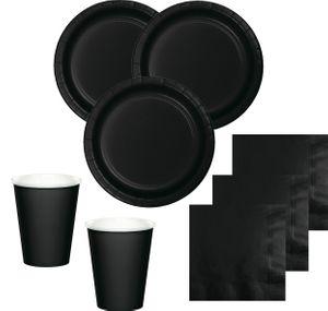8 Pappteller Schwarz – Bild 2